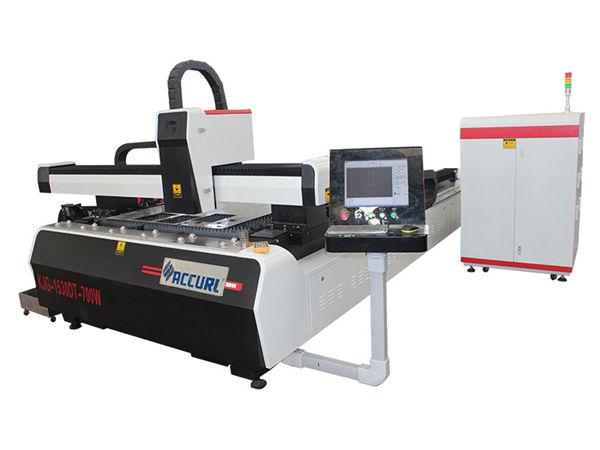 Máquina de corte por láser de fibra cnc de placa de acero de aleación de doble accionamiento de alta eficiencia